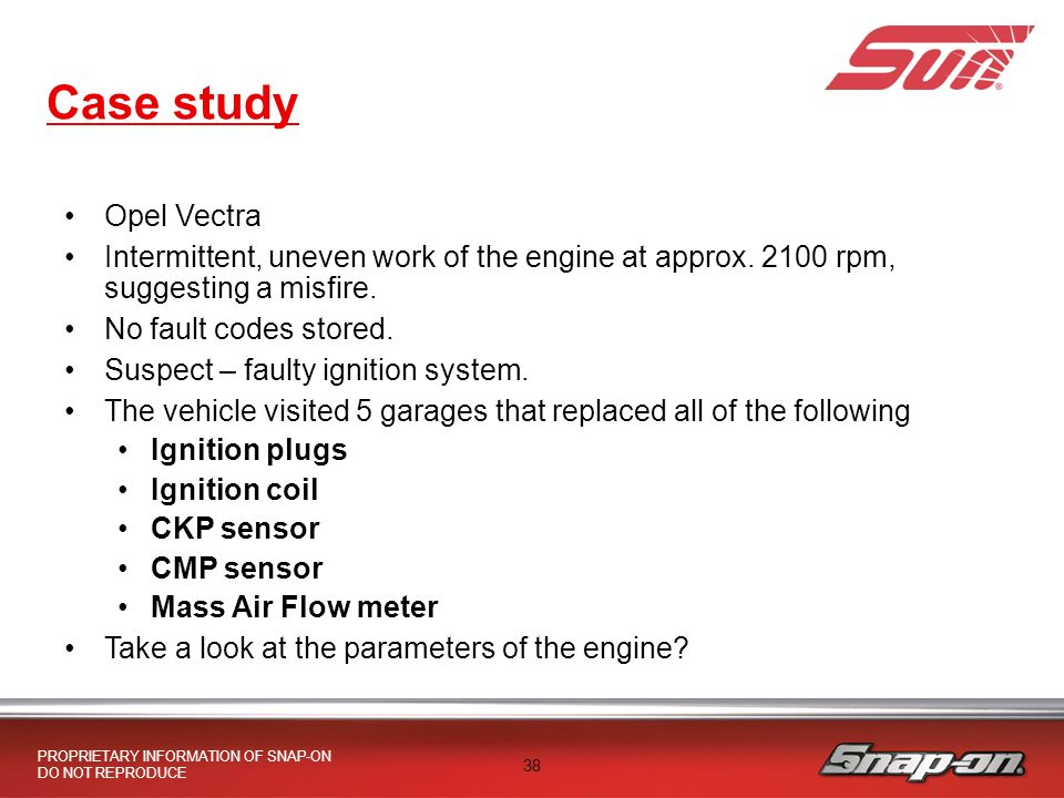 PROPRIETARY INFORMATION OF SNAP-ON DO NOT REPRODUCE DO YOUR