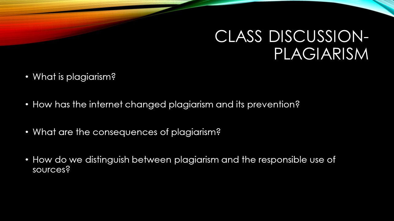 discuss plagiarism
