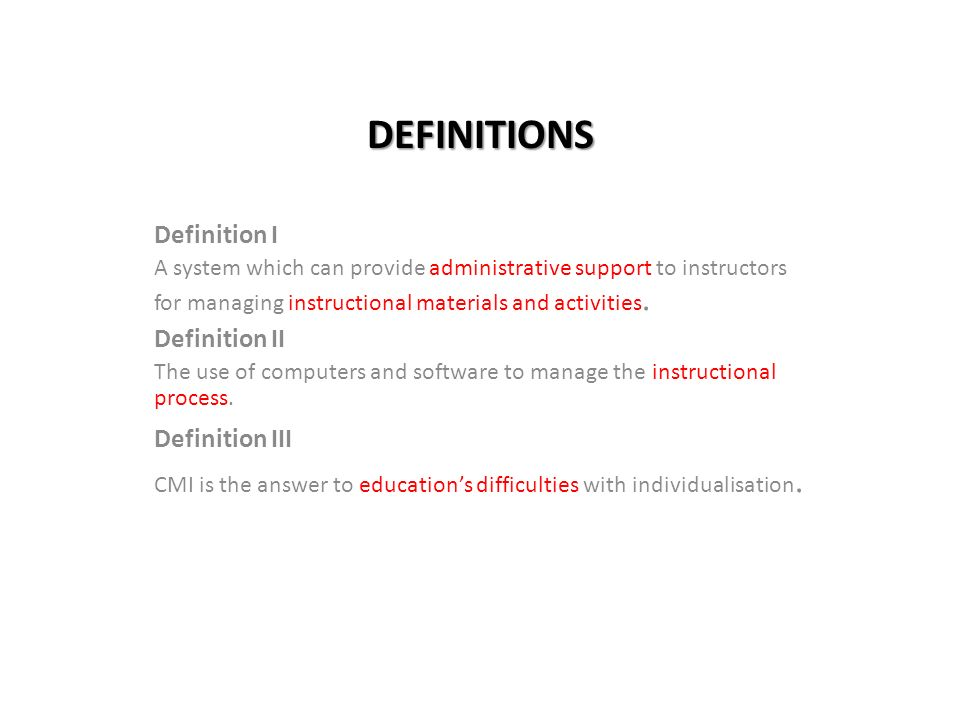 computer aided instruction definition