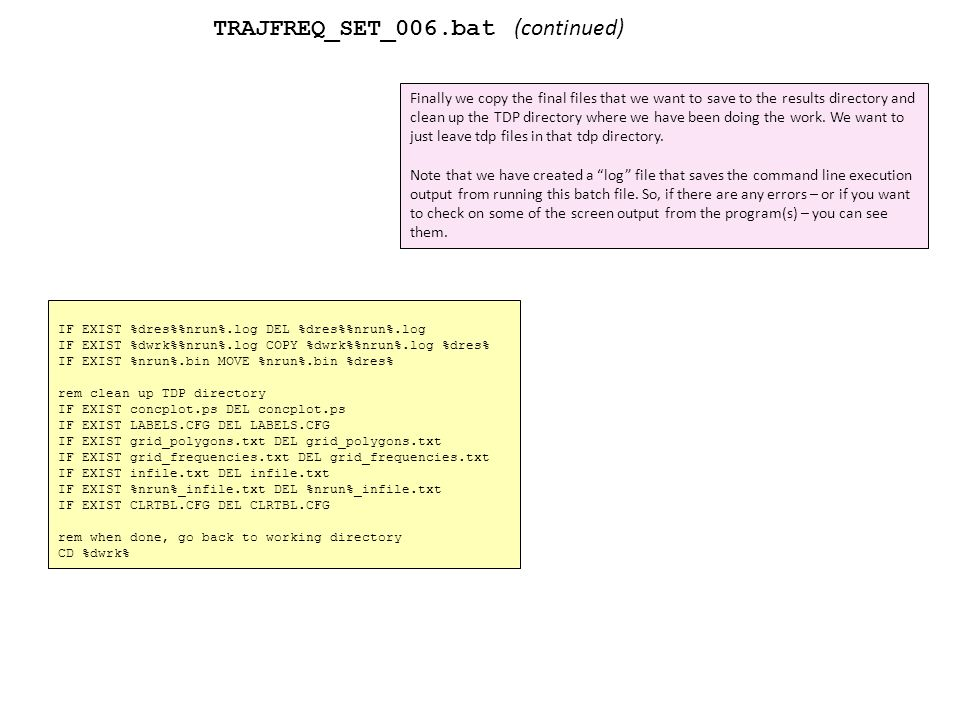 An integrated example of using command line functionality of