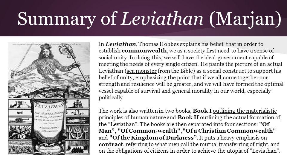 hobbes leviathan summary