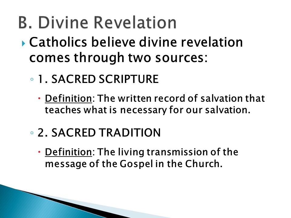 sacred tradition definition