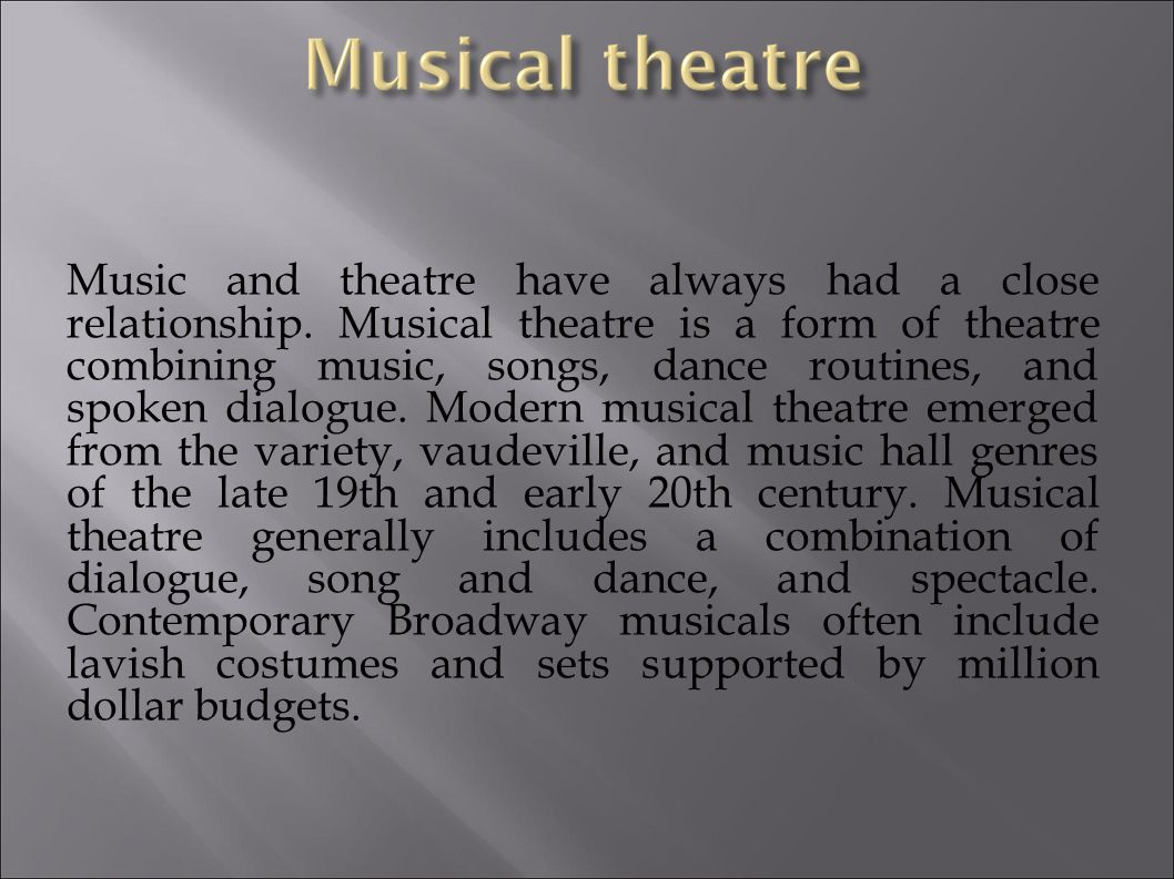 What do we know about Theater? A powerpoint journey with