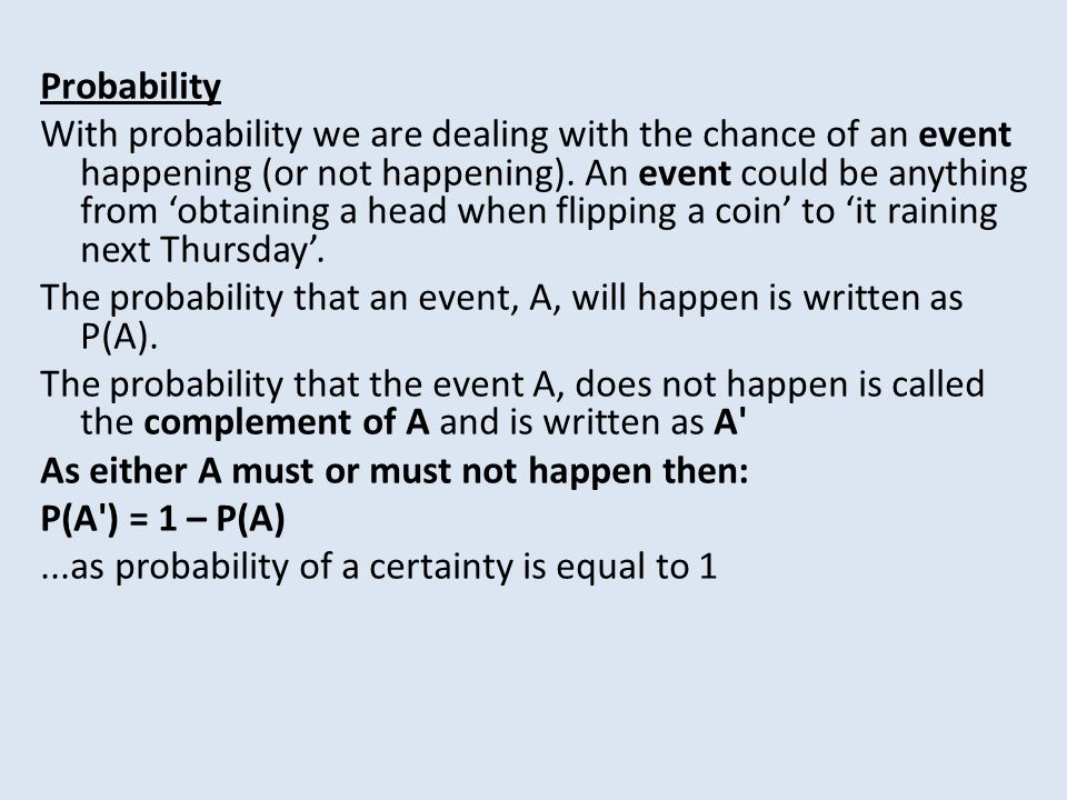 Probability Introduction Examples Key Words Practice Questions Venn