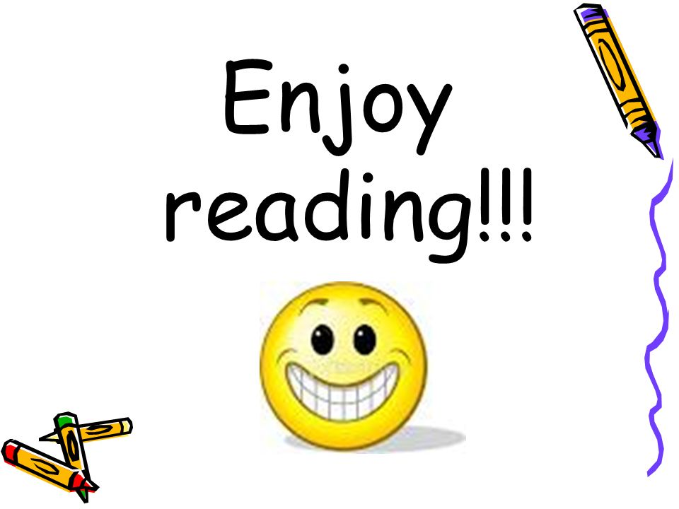 Enjoy reading!!!