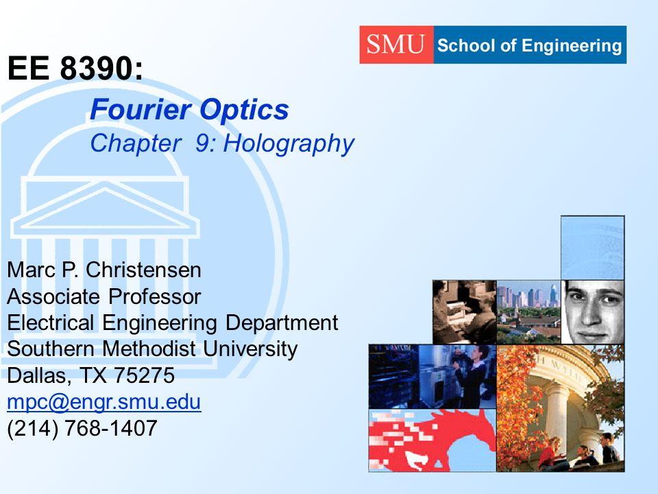 Ee 8390 Marc P Christensen Associate Professor Electrical