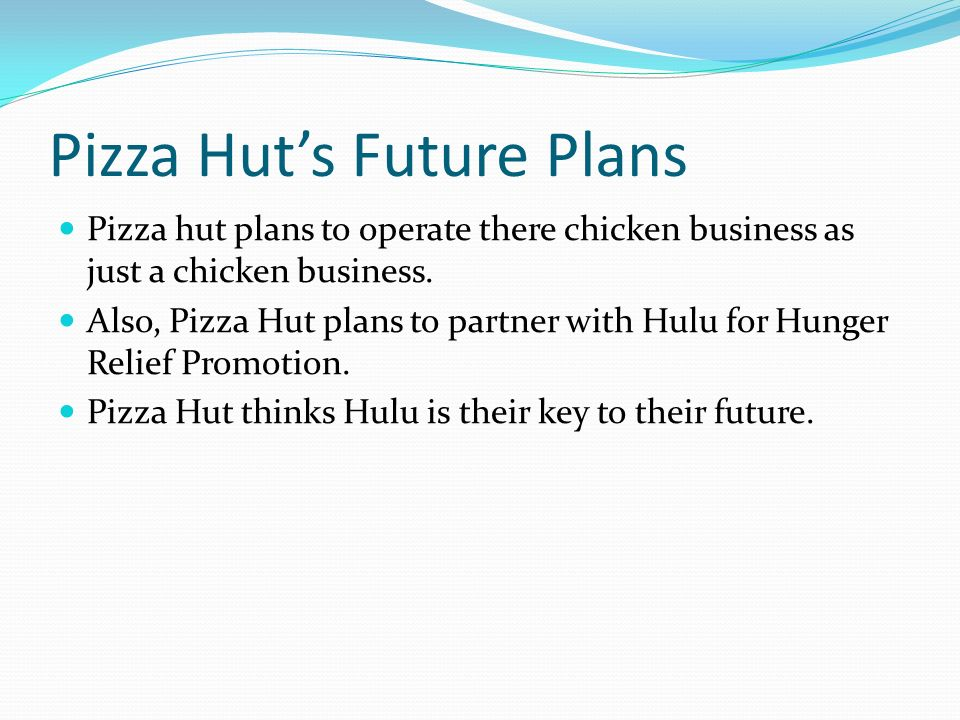 pizza hut business plan