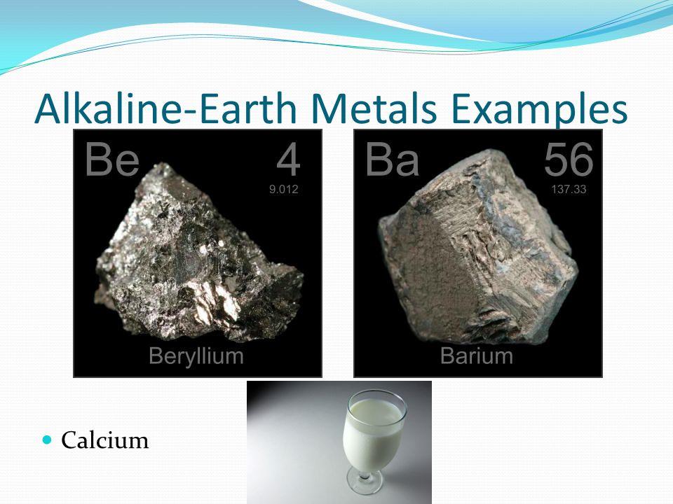 7 Alkaline Earth Metals Examples Calcium