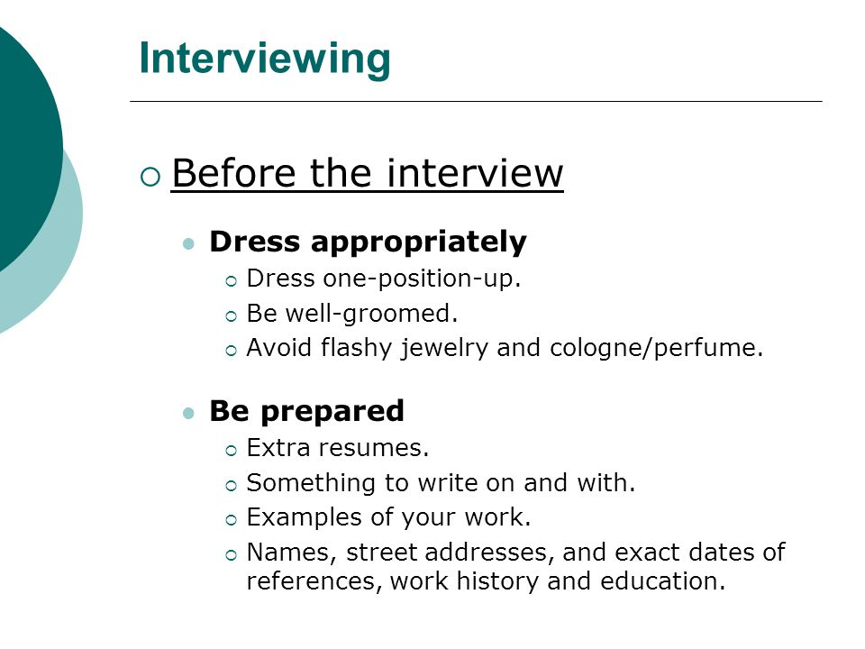 BC2: Job Hunting-- Interviews. Interviewing  Developing an ...