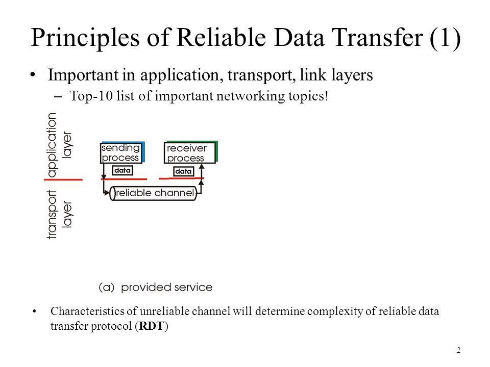 Part 3: Transport Layer: Reliable Data Transfer CSE 3461