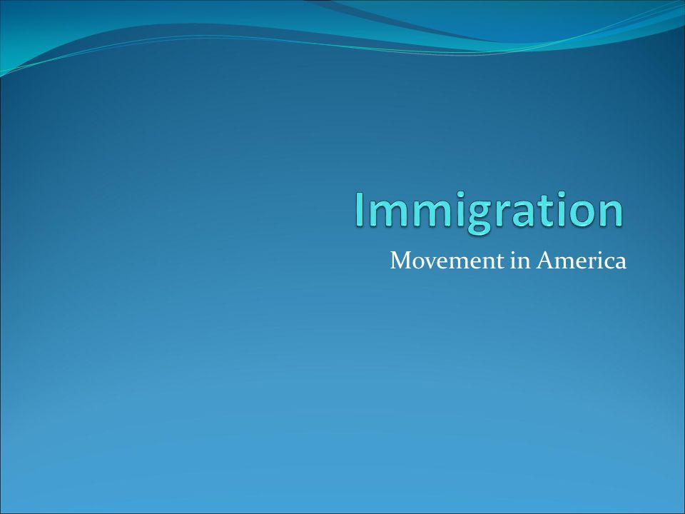 Movement in America