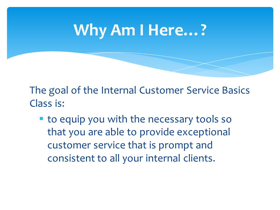 Internal Customer Service Basics A guide to effective