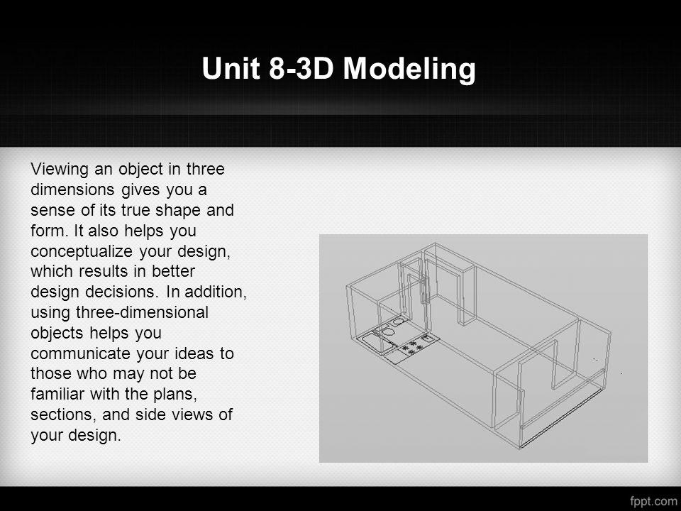 Unit 8 3d Modeling Dt2510 Advanced Cad Methods 3d Modeling