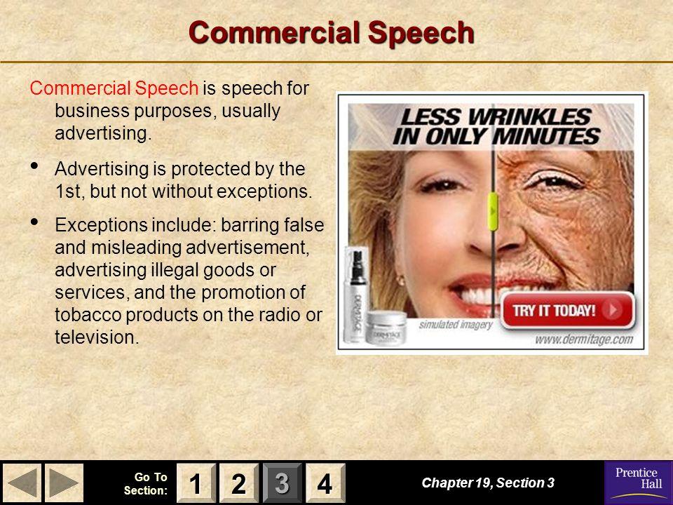 speech on advertisement