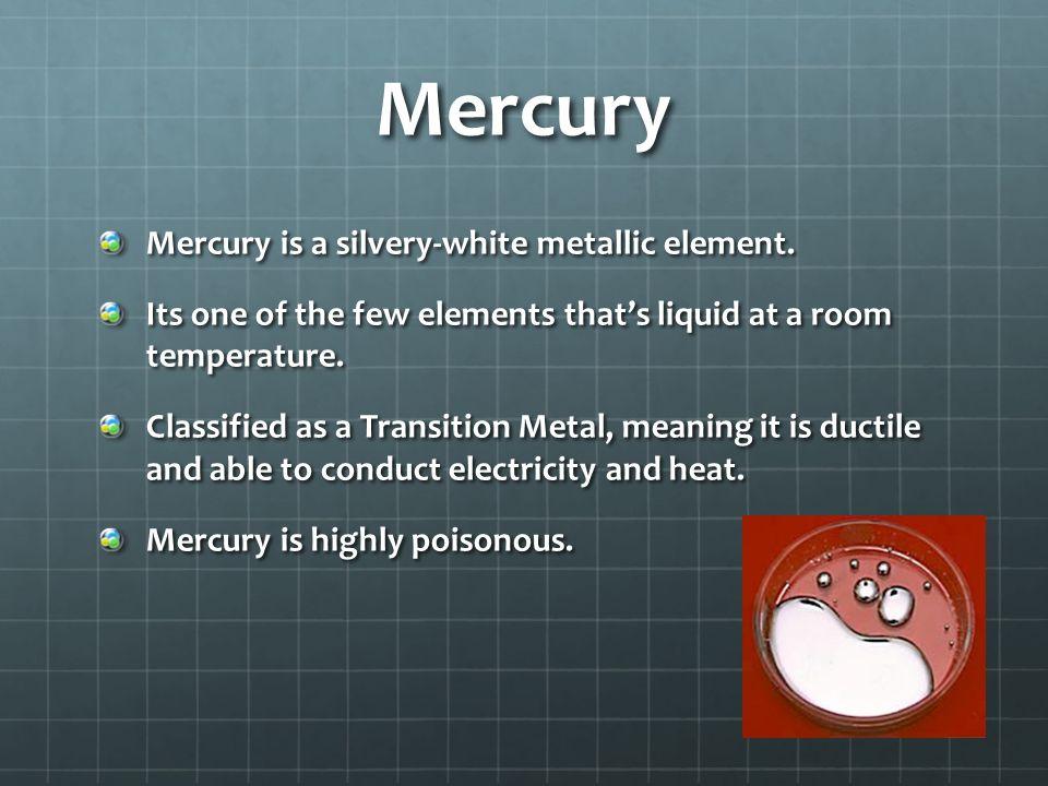 Mercury Hg Sheina 74 Mercury Symbol Hg Hydrargyrum Atomic