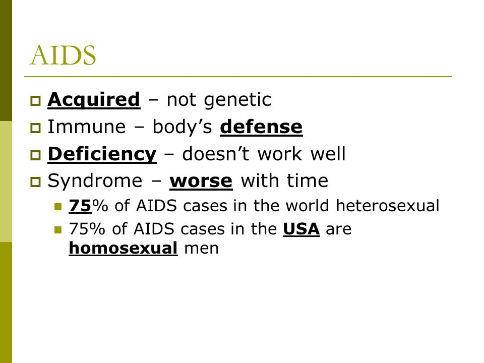 Homosexual causes hiv
