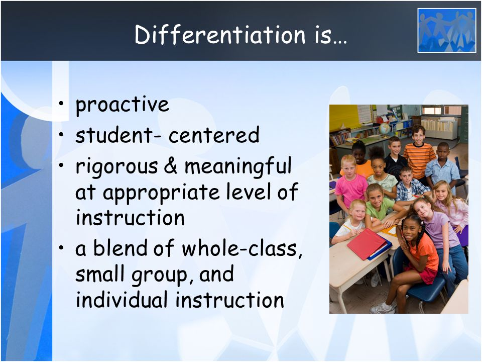 meeting the diverse needs of all students