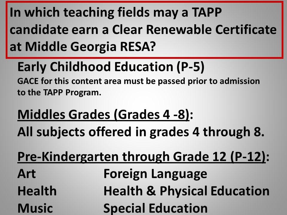 Georgia Teacher Academy for Preparation and Pedagogy Pam Wacter ...