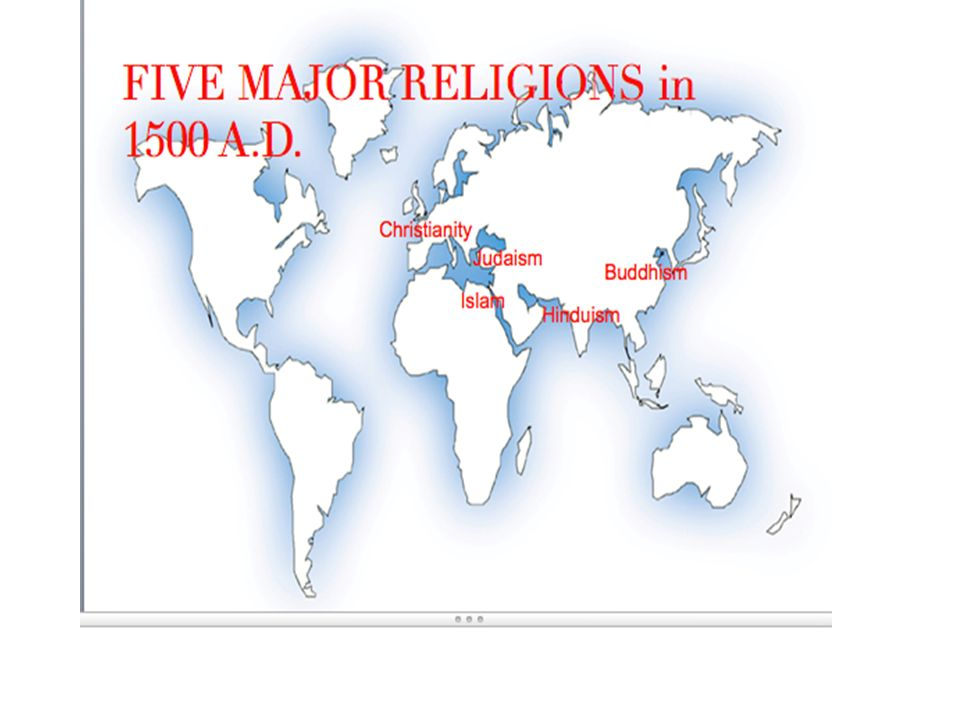 World Religions Montheistic World Religions 1500 Identify The