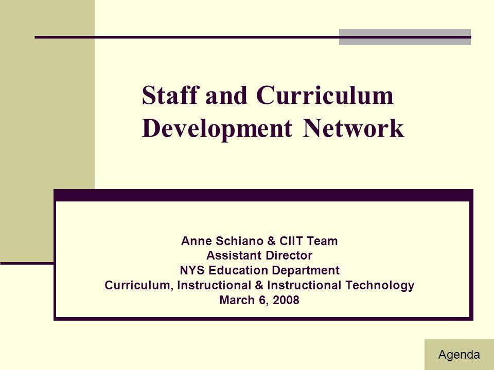 Staff And Curriculum Development Network Anne Schiano Ciit Team