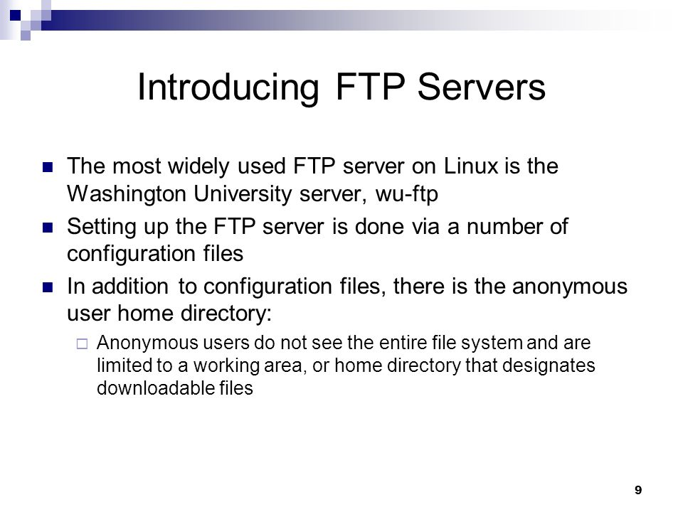 1 Linux Networking and Security Chapter 5  2 Configuring File