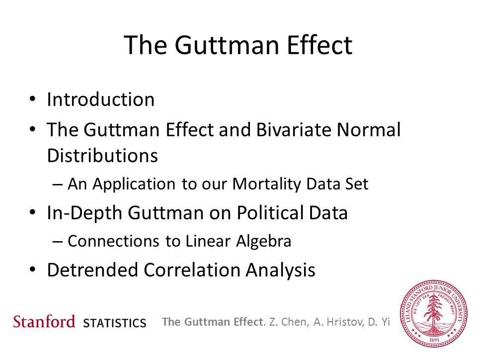 Exploring the Guttman Effect Statistics 300 Zhao Chen