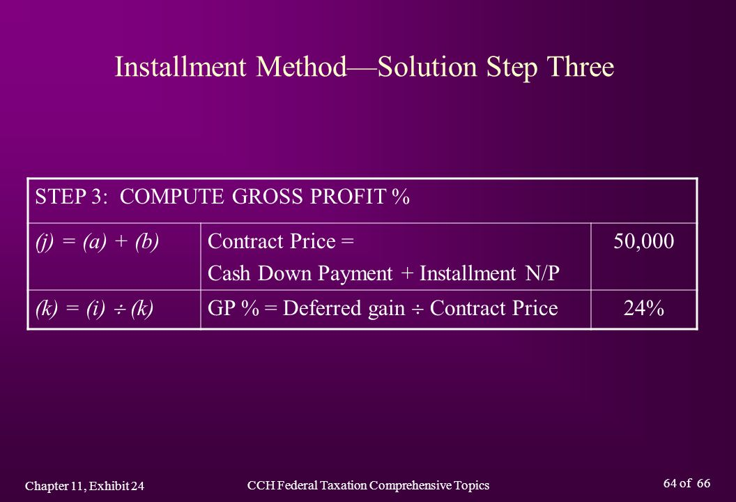 CCH Federal Taxation Comprehensive Topics Chapter 11