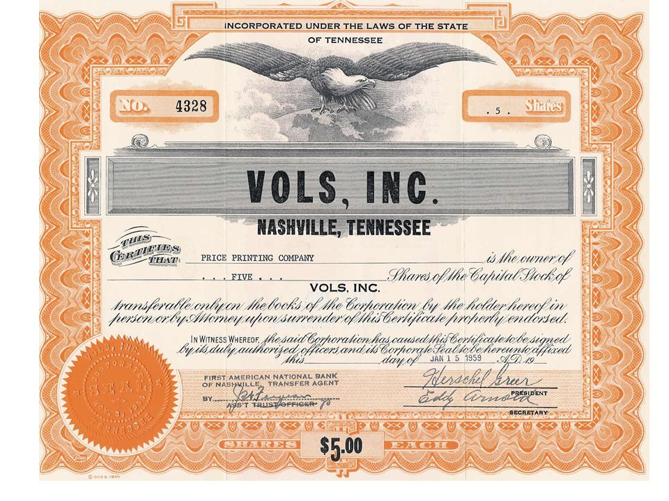 The Stock Market What Is Stock Stock Is A Paper Certificate