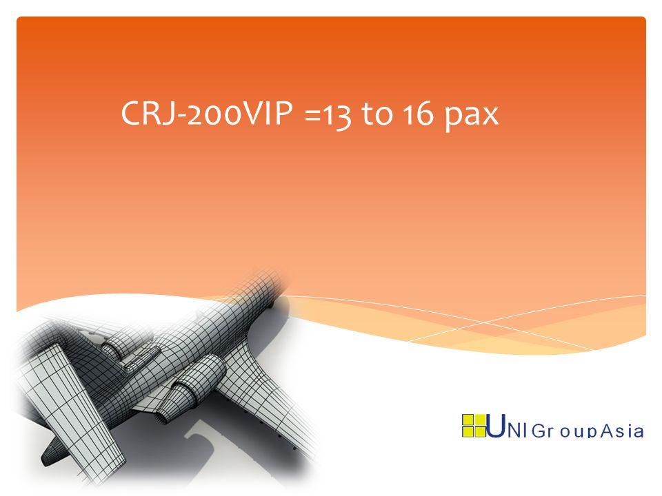 CRJ-200VIP =13 to 16 pax