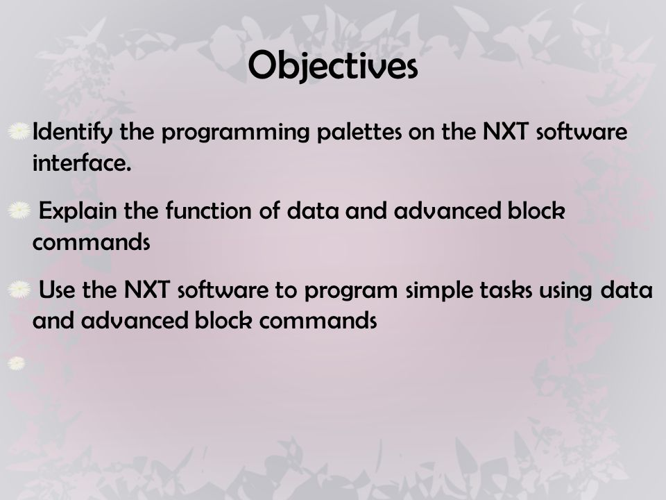Introduction to Data & Advanced Programming Blocks ROBOTICS II
