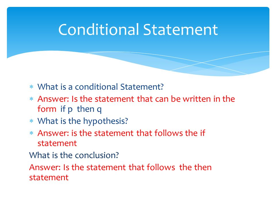 What Is A Conditional Statement