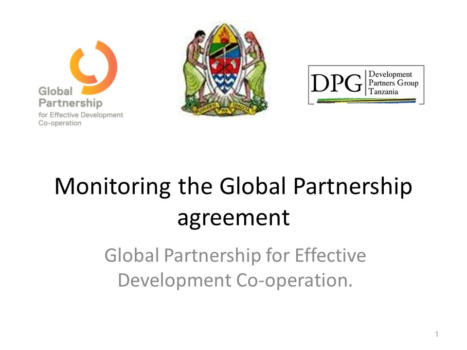 Monitoring The Global Partnership Agreement Global Partnership For