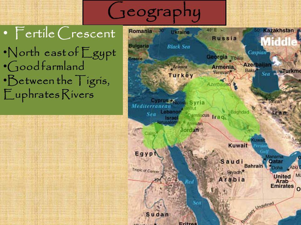 ancient civilizations mesopotamia geography fertile crescent north