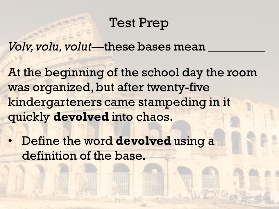 building vocabulary from word roots lesson 15 latin bases volv volu