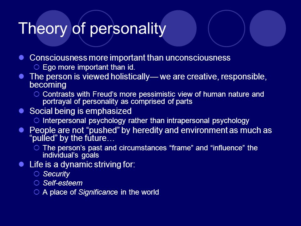 alfred adler personality