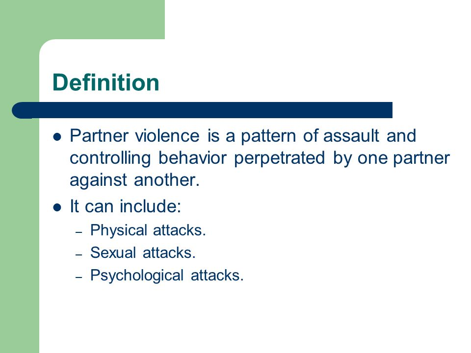 Controlling behavior definition