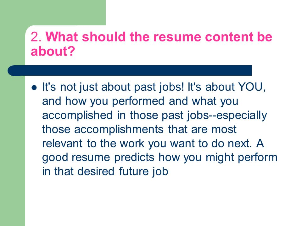 FAQ about resumes Your guide to success! This has nothing to do with ...