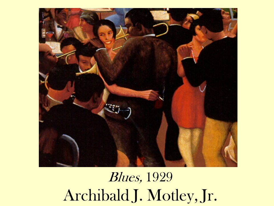 Blues, 1929 Archibald J. Motley, Jr.