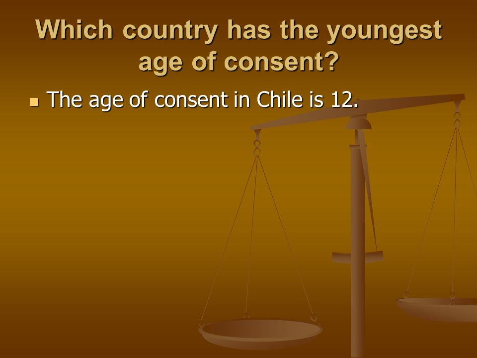 youngest age of consent