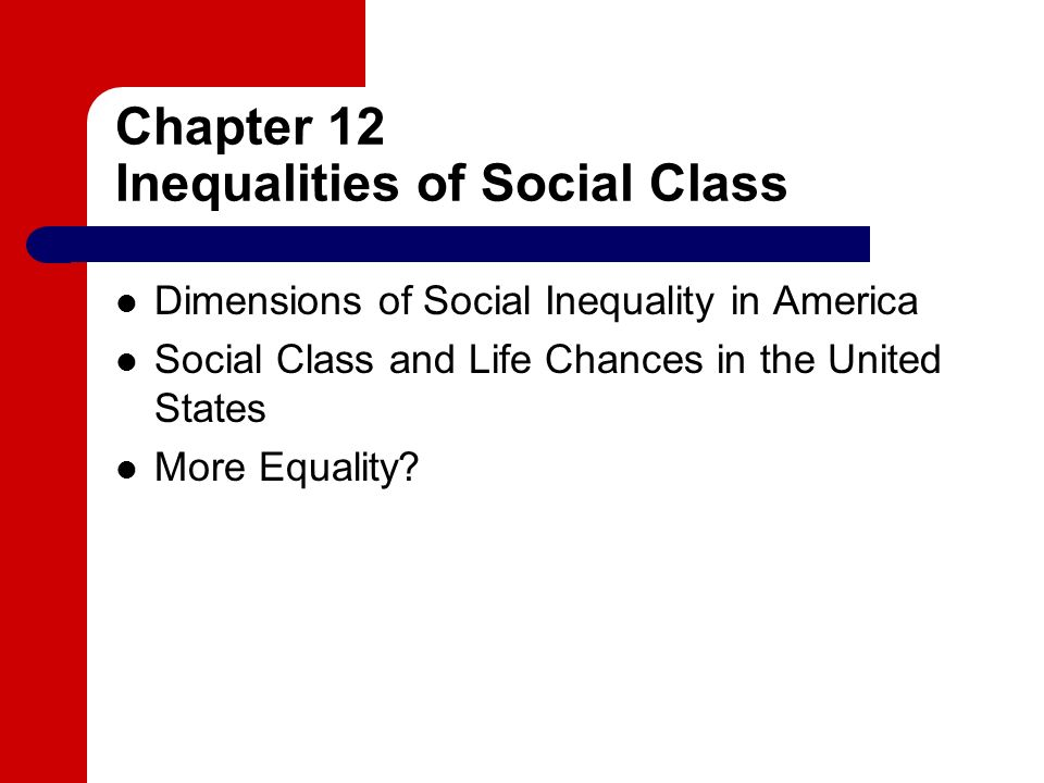 life chances and social class
