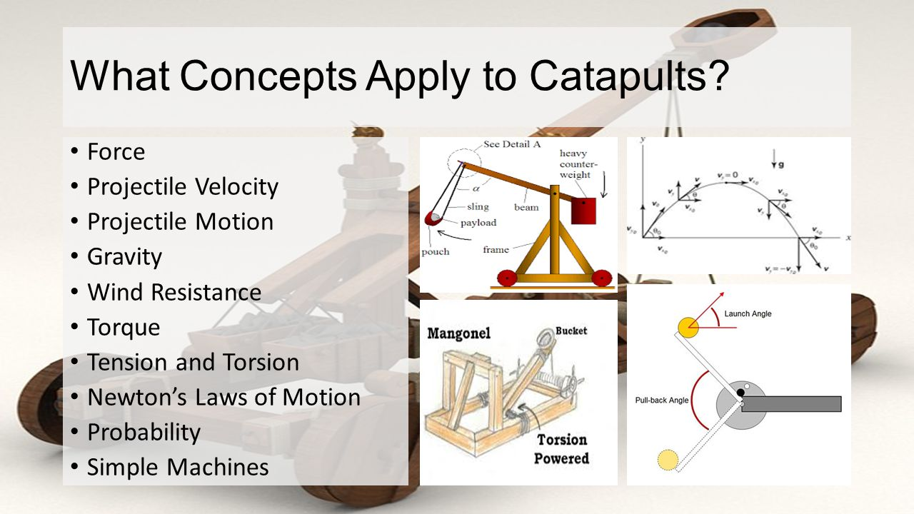 Catapult Project Mr Mclean 8 Th Grade Physical Sciences Final Diagram Of A What Concepts Apply To Catapults