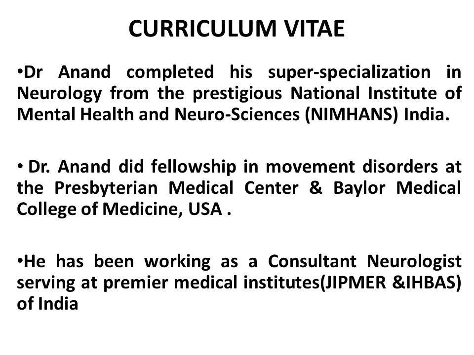 Dr  Kuljeet Singh Anand MB, BS, DM (Neurology), FIAN, FRCP