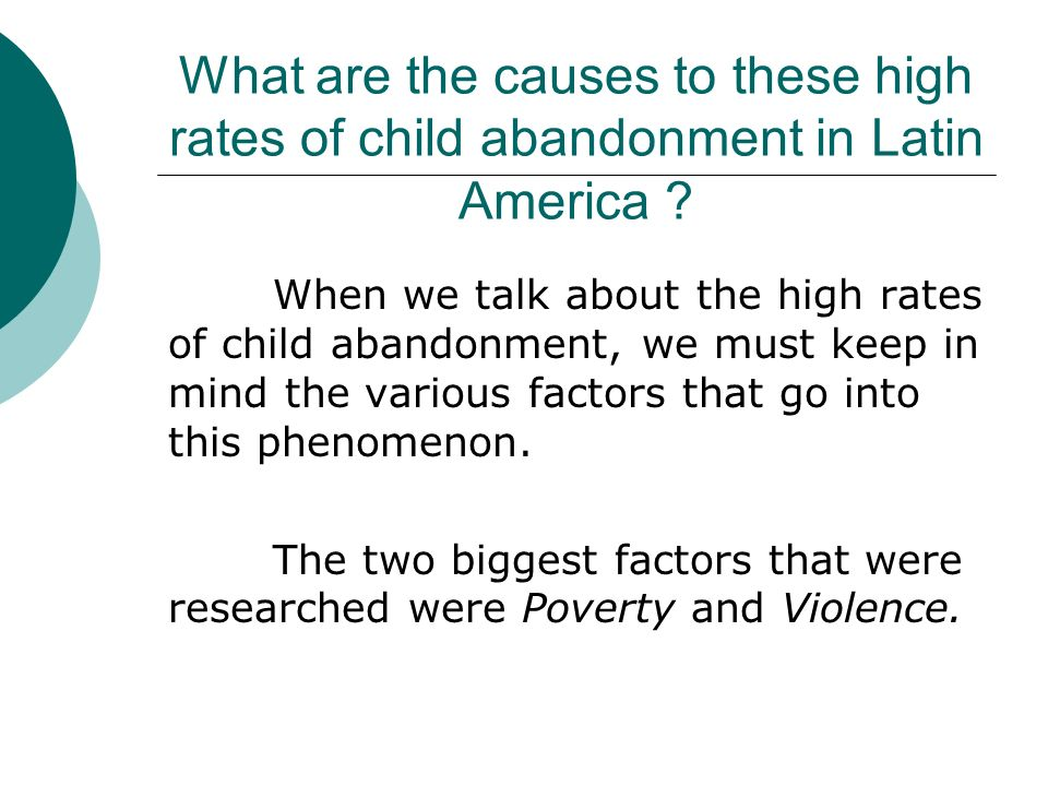 factors of child abandonment