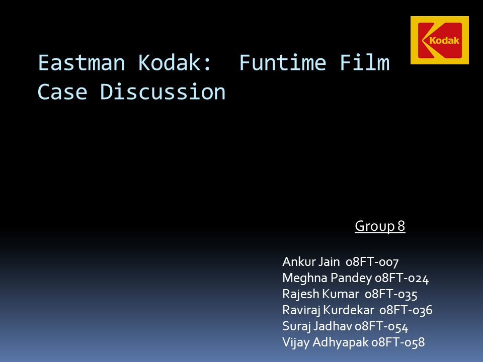 eastman kodak funtime film case study