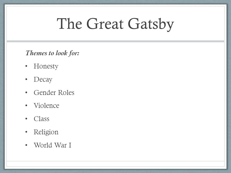 The Great Gatsby March Do Now Take Introduction and Chapter