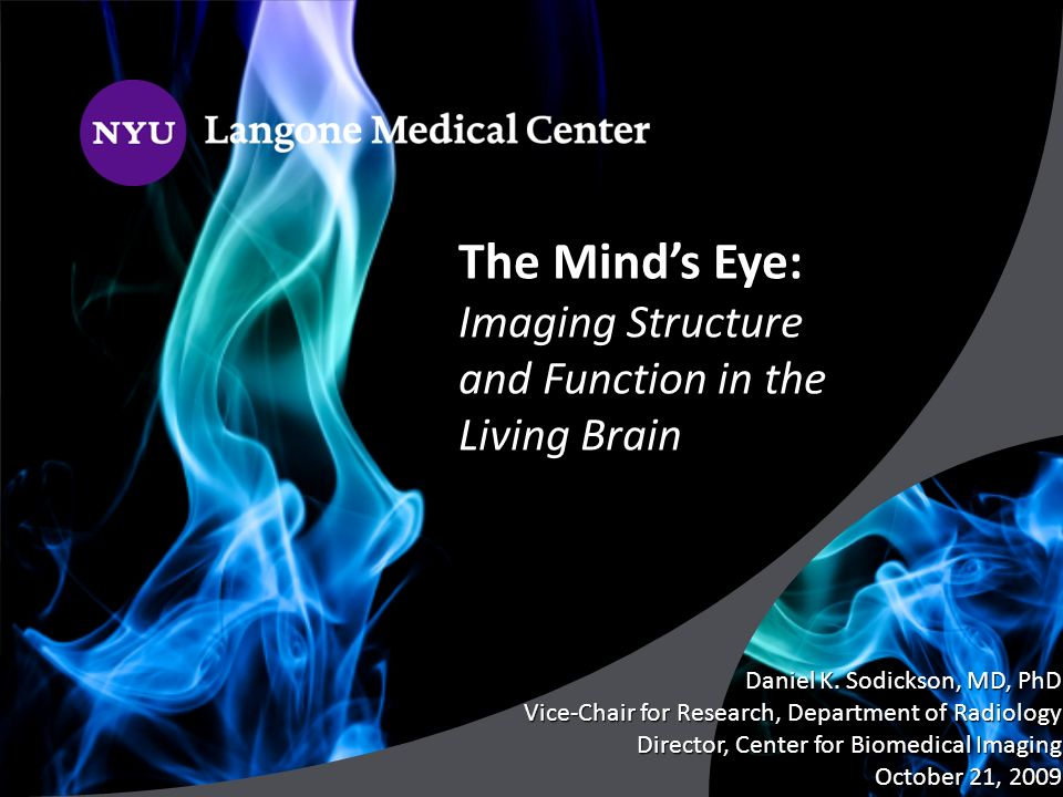 The Mind's Eye: Imaging Structure and Function in the Living