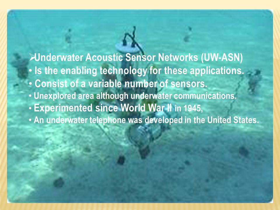 BY: MITALI BHOPAL TOPIC: UNDERWATER WIRELESS ITP (LAB) - ppt download