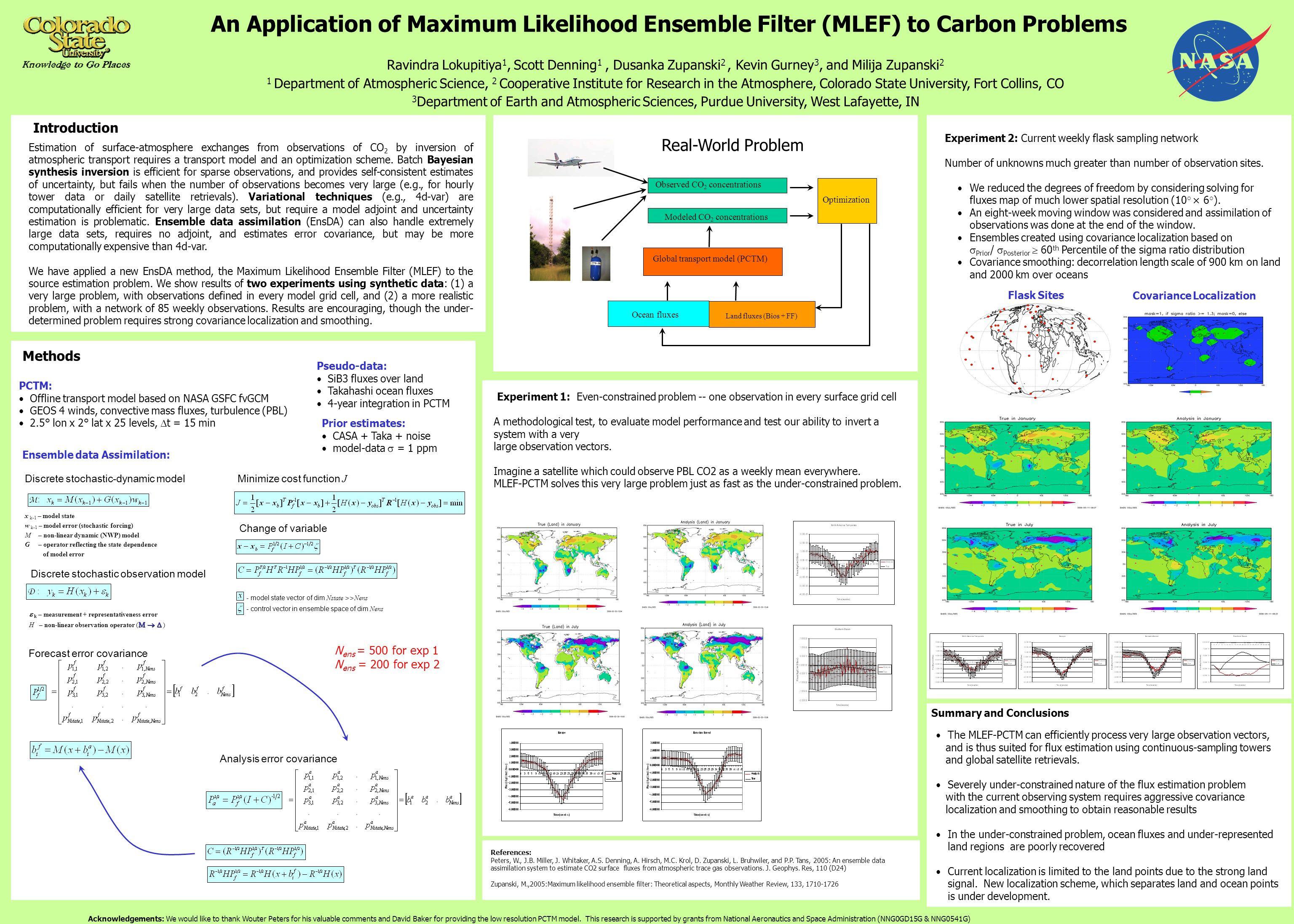 Lication Of Maximum Likelihood Ensemble Filter Mlef To Carbon Problems Ravindra Lokupitiya 1 Scott Denning Dusanka Zupanski 2 Kevin Gurney 3
