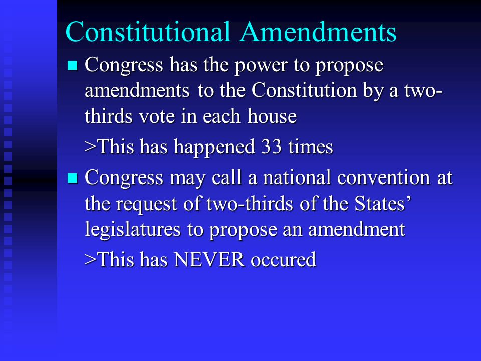 all amendments in the constitution of How to amend the constitution amending the us constitution is a difficult and time-consuming process - in fact, it was designed to be that way since the states ratified the document in 1788, only 27 out of 11,000 proposed amendments h.
