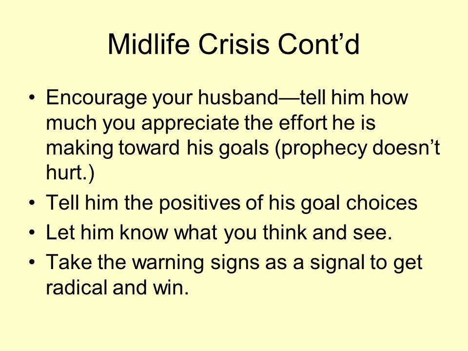 Midlife crisis husband